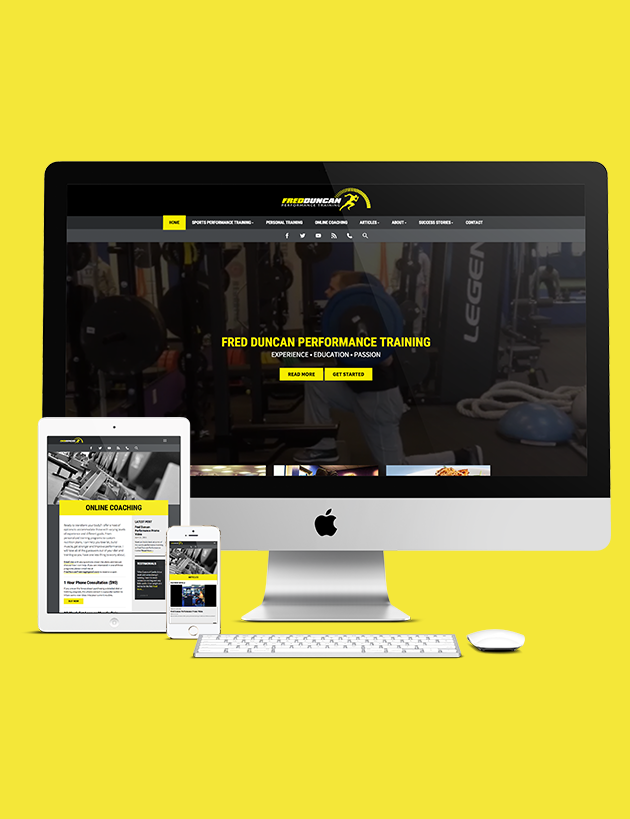 Fred Duncan Performance Training Website