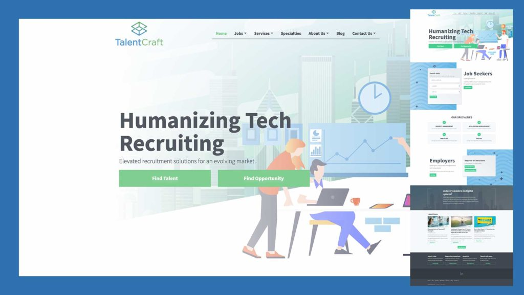 Tech Professional Staffing Website